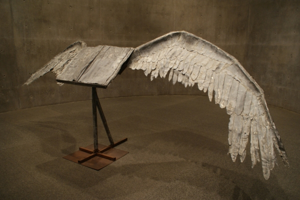 Book with Wings, Anselm Kiefer, at the Modern in Fort Worth