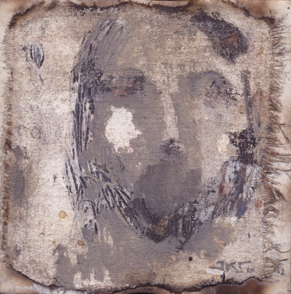Cristo LI (Grey Shroud) by J. Kirk Richards