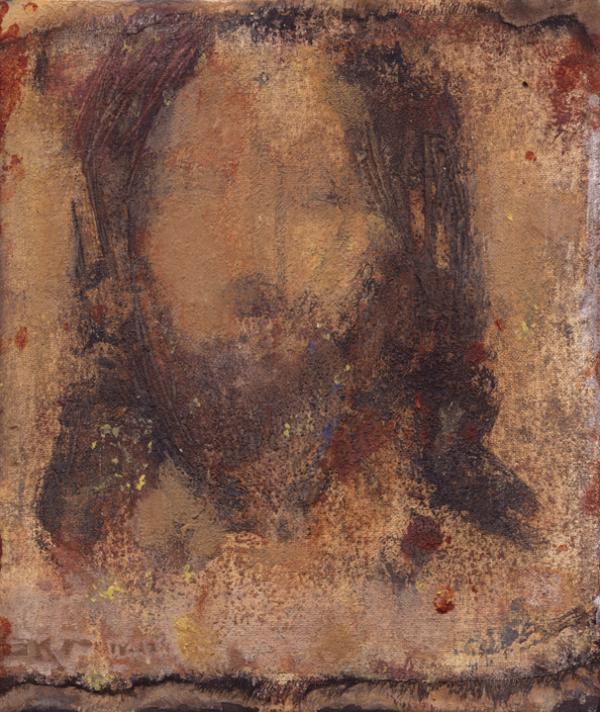 Cristo LII (Golden Shroud) by J. Kirk Richards