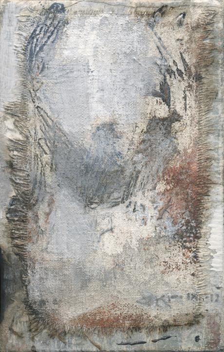 Cristo LVII (Grey Shroud) by J. Kirk Richards