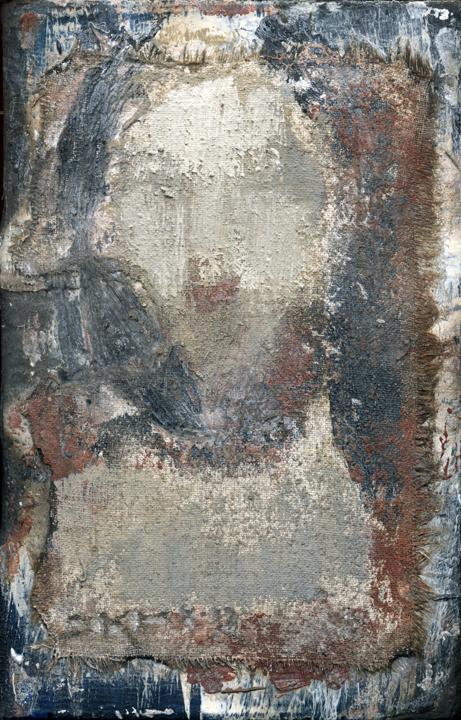 Cristo LVIII (Grey Shroud) by J. Kirk Richards