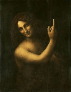 Leonardo da Vinci's John the Baptist in the Louvre.