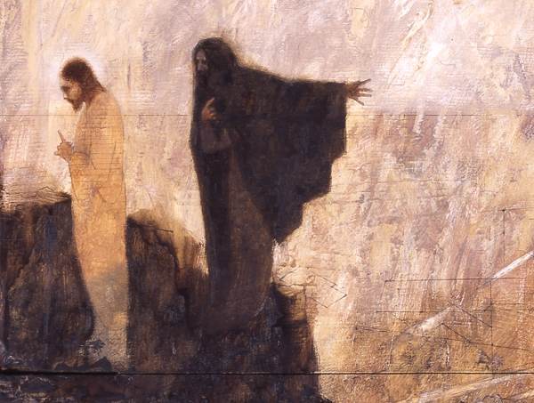 Temptation, detail, by J. Kirk Richards.