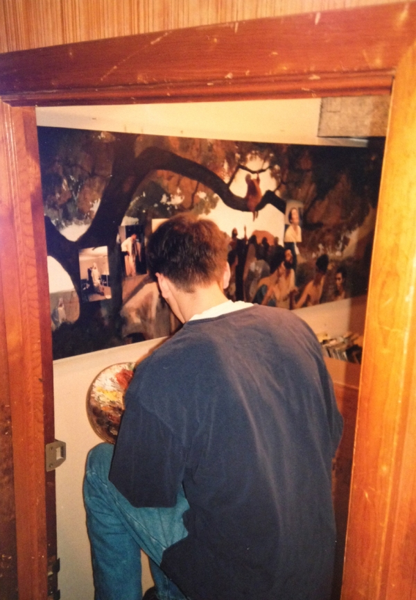 Circa winter of 2000/2001, when it was too cold to paint in the garage, I painted in the laundry room instead.